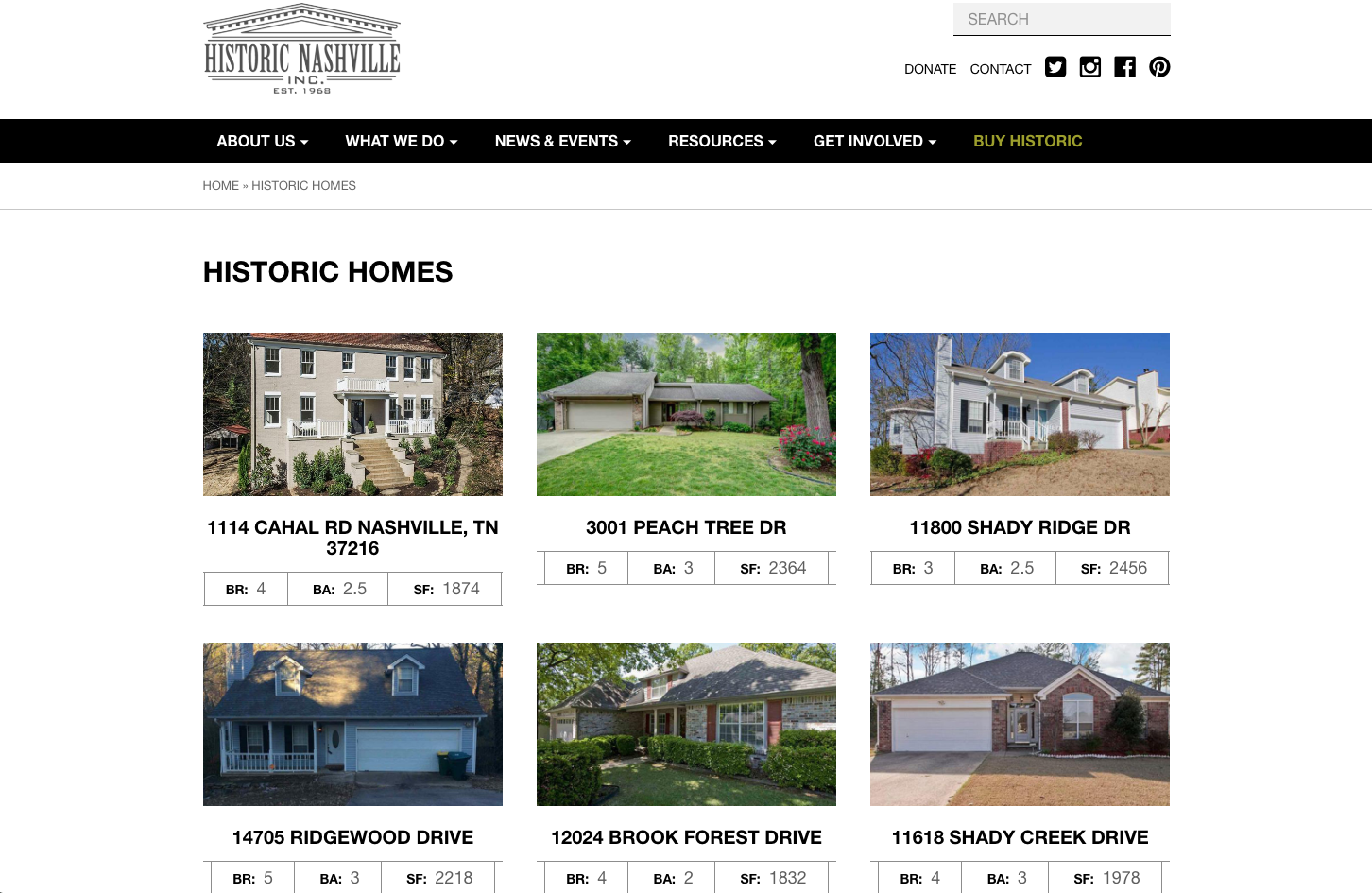 nashville historic real estate listings